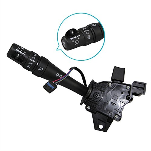 Turn Signal Switch Hazard Warning Headlamp High Low Beam Dimmer Cruise Control Combination Lever Fit 25804854 1802-486122 for Pontiac Grand Prix 2006 2007 2008 V6 3.8L V8 - Lever Cruise Grand Control Prix