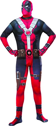 The Best Deadpool Costume - Marvel Men's Deadpool 2nd Skin Costume, Multi, Standard