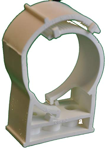 Snap N Strut Qty 12 White PP Pipe Hanger For 3 Inch EMT Conduit And Copper, And Sched 40 ()