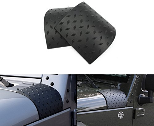 Ice-man 2pcs New Black Cowl Body Armor Outer Cowling Cover For Jeep JK Wrangler & Unlimited 2/4 Door 2007 2008 2009 2010 2011 2012 2013 2014 2015 2016 (Upgrade Version)