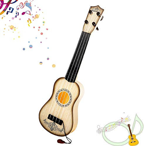 M SANMERSEN Kids Toy Guitar 4 Strings Kids Play Guitar Mini Ukulele Classical Educational Learning Guitar Toy for Kids Toddler Beginner Boys Girls