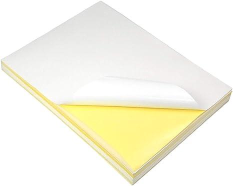 Granvoo Etiquetas adhesivas A4 Sticker Paper 297mm x 210mm con ...