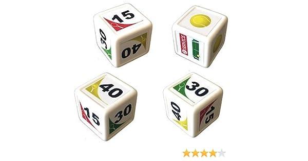 WeebleGames Dados de Tenis. Juega un Partido de Tenis con 4 Dados. Juegos de Mesa: Amazon.es: Juguetes y juegos