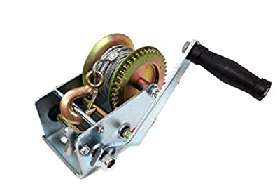 UI PRO TOOLS - 2000 lb Gear Winch for Boat Truck Car Trailer ATV Heavy Duty Cable Hand Winch