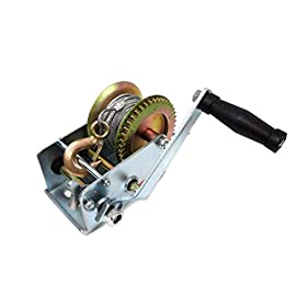 UI PRO TOOLS – 2000 lb Gear Winch for Boat Truck Car Trailer ATV Heavy Duty Cable Hand Winch