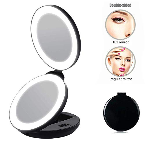 Pocket Makeup Mirror With Led Lighting