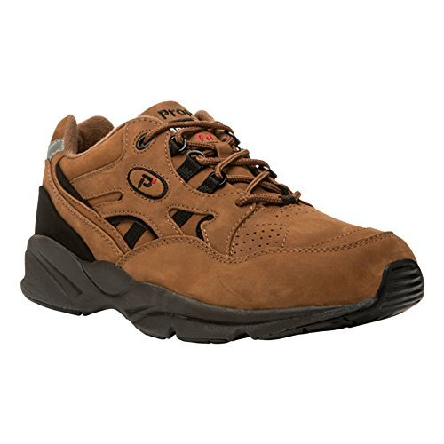姓効率ロマンチックProp?t(プロペット) メンズ 男性用 シューズ 靴 スニーカー 運動靴 Stability Walker Medicare/HCPCS Code = A5500 Diabetic Shoe - Chocolate/Brown Nubuck [並行輸入品]