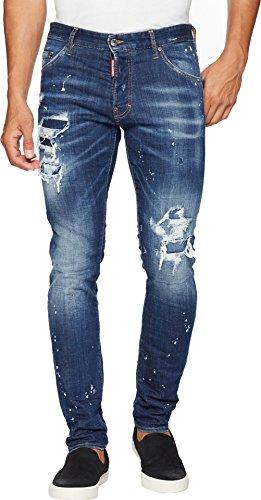 Dsquared2 Men Pants - DSQUARED2 Men's Bleached Cool Guy Jeans Blue 50