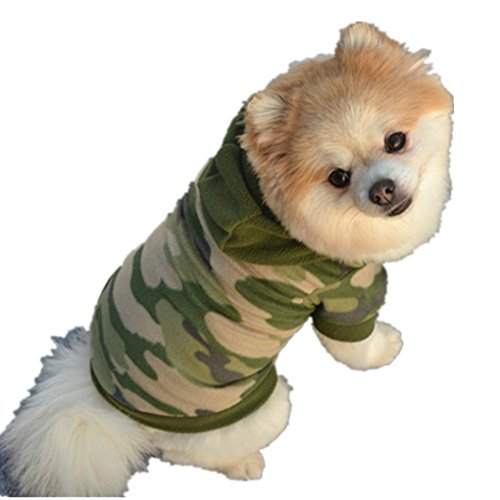 Pet Clothes,Haoricu Camouflage Winter Warm Plush Sweater Dog Coat Pet Clothes Clothing...