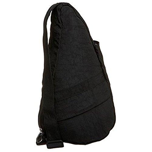 AmeriBag Classic Distressed Nylon Healthy Back Bag tote X-Small,Black,one size (Healthy Distressed Nylon Small)