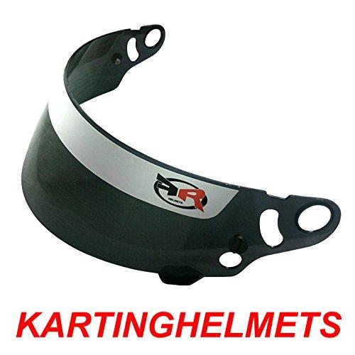 FR Helmets Helm-Visier verspiegelt Blau, kompatibel mit FK08, OMP KJ-7, MT CMR, V2SPORT