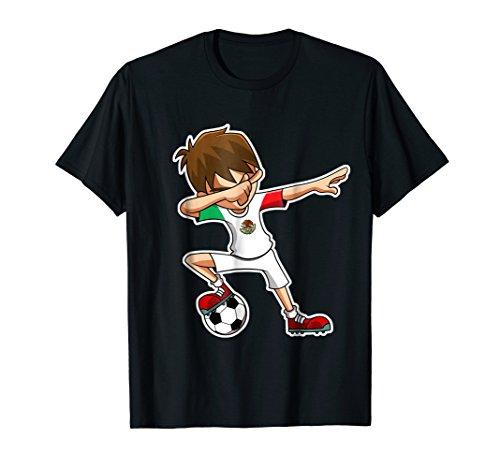 Dabbing Soccer Boy Mexico Shirt, Mexican Flag Jersey, Dab
