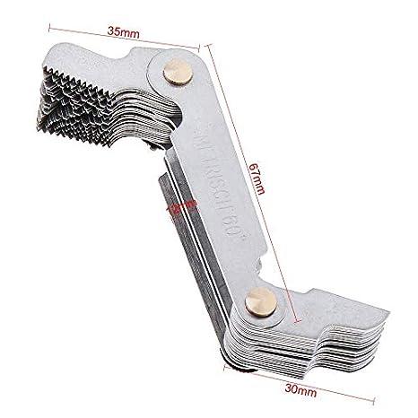 Thread Pitch Gauge 58pcs Blade Metric /&Imperial /&US Screw Gauge Measurement Tool