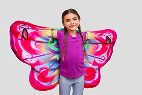 Cozy Wings by Jay at Play Rainbow Butterfly - Wrap Around Magic Wings Keep Kids Warm & Cozy for Naptime, Playtime, or Anytime - Size Fits Most Kids