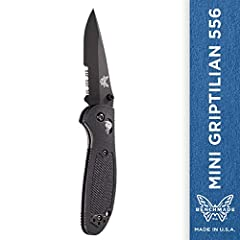 When it comes to all around functionality, you can't beat the Griptillian. There are more shapes, sizes and colors available in the Griptillian than any other product family from Benchmade. Blade Length: 2.91 inch, Blade Thickness: 0.1 inch, ...