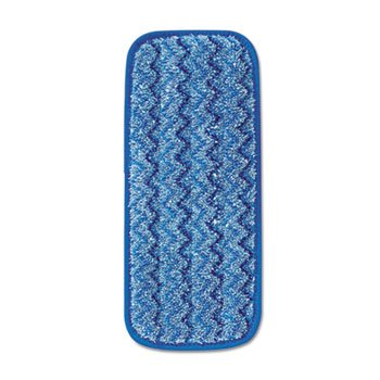 - Microfiber Wall/Stair Wet Mopping Pad, Blue, 13 3/4w X 5 1/2d X 1/2h, 6/carton