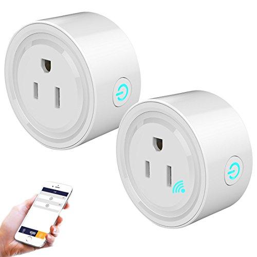 kilofly 2pc Smart Plug Wi-Fi Wireless Remote Control Outlet, Compatible with Alexa by kilofly