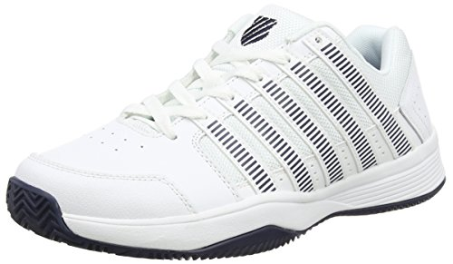 K-Swiss Herren Court Impact HB Tennisschuhe White (White/Silver/Dressblue 117)