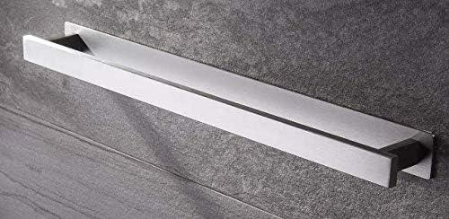 2PCS SET Badetuchhalter Edelstahl mit + Schnelltrocknender Leim)Handtuchstange Selbstklebend 40*4.5*4CM LIUMY Handtuchhalter im Bad