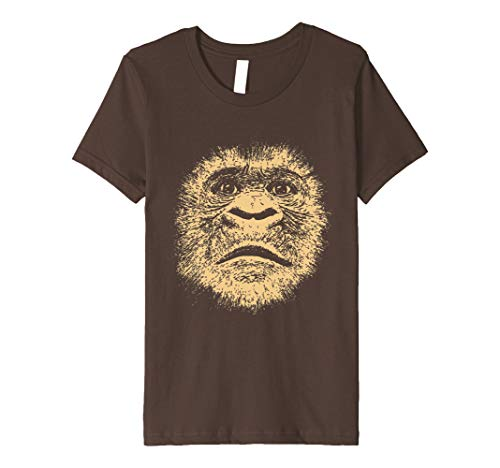Kids Chimpanzee Face T Shirt Funny Gorilla Lover