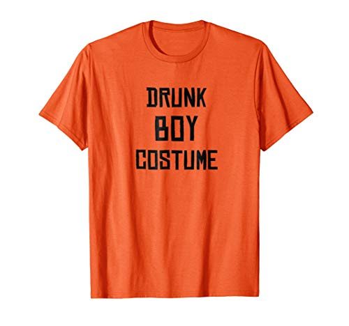 Mens Drunk Boy Costume - Funny Halloween 2017 T-Shirt -