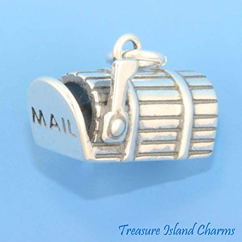 Sterling Silver Mailbox 3D Charm DIY Jewelry Making Supply for Charm Pendant Bracelet by Charm Crazy