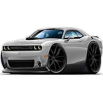 2015 Challenger Scat Pak w/ Shaker WALL DECAL 2ft long Vinyl Reusable  Movable Fun Stickers