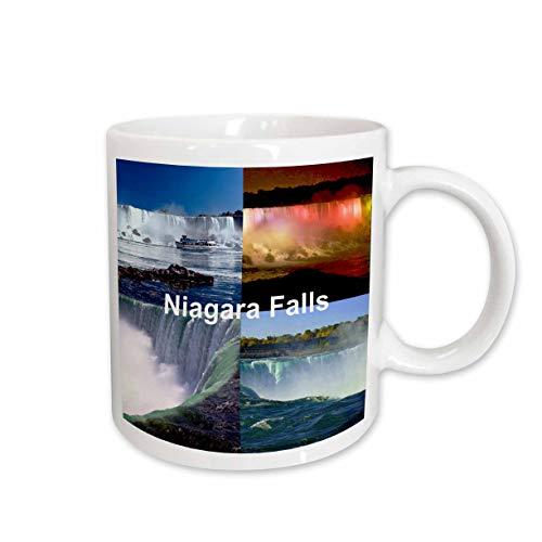 3dRose Niagara Falls Collage Mug, -