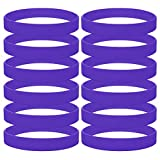 GOGO 12 PCS Silicone Wristbands, Adult Rubber Bracelets, Party Accessories-Purple