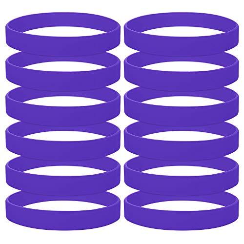 GOGO 60PCS Rubber Bracelets for Kids Silicone Rubber
