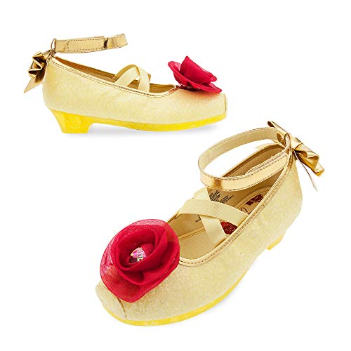 (Disney Belle Costume Shoes for Kids - Beauty and The Beast Size 7/8 TODLR)