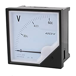 uxcell DC0-600V Class 1.5 Accuracy Analog Panel Volt Voltage Meter Voltmeter Gauge