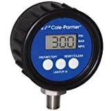 Cole-Parmer Digital Pressure Gauge, 0 to 5000 psi, 2.5'' dia, 1/4'' NPT(M)