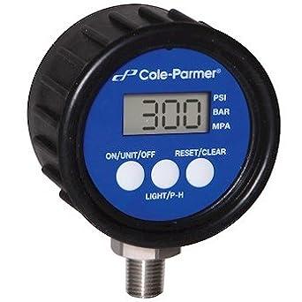 4 Dia 316SS Diaphragm; 0 to 100 psi 4 Dia AO-68082-36 Cole-Parmer Industrial Pressure//Process Gauge