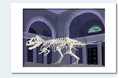 T-Rex Matted Print, 16 x 20 (Alphabet Cities)