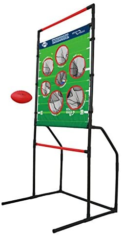 Sport Squad Endzone Challenge – 2-in-1 Football Toss and Flying Disc Toss – Backyard and Lawn Game for Indoor and Outdoor Use