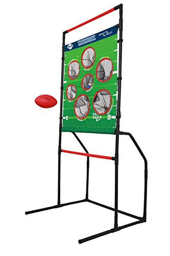 Target Toss Game - Sport Squad Endzone Challenge - 2-in-1 Football Toss and Flying Disc Toss - Backyard and Lawn Game for Indoor and Outdoor Use - Practice Your Throwing Skills with This Football Target Carnival Game