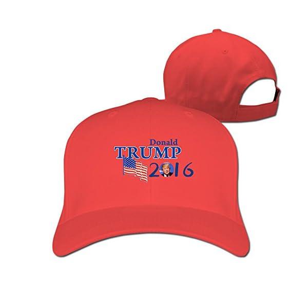 Donald-Trump-Adjustable-Snapback-Trucker-Hat-100cotton-Red