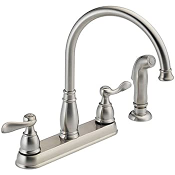 Delta Faucet 2497lf Ar Cassidy Two Handle Kitchen Faucet