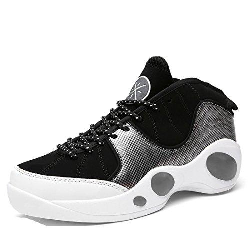 Hombres Zapatos deportivos Formación Respirable Antideslizante a prueba de agua Zapatos de basquetbol Deportivos Black