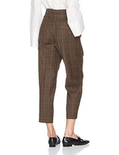 Sisley grey Mujer Para Melange Pantalones Cropped Leg Gris 911 Pants Wide 84qg8Uxwr