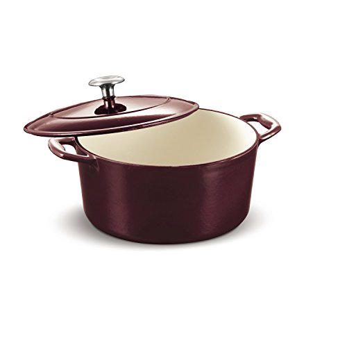 Tramontina Enameled Cast Iron Covered Round Dutch Oven, 5.5QT Majolica