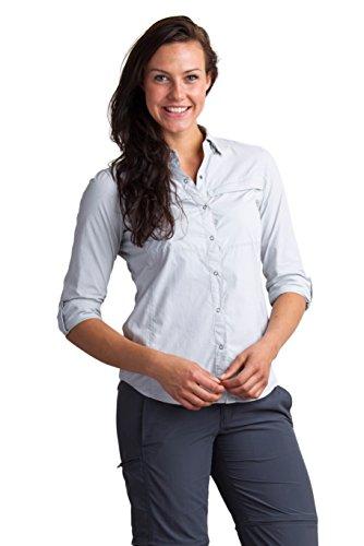 - ExOfficio Women's BugsAway Halo Stripe Long Sleeve, Slate, Medium