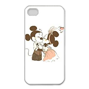 iphone4 4s Case, Disney Mickey Mouse Minnie Mouse Cell phone case White for iphone4 4s - SDFG8756017