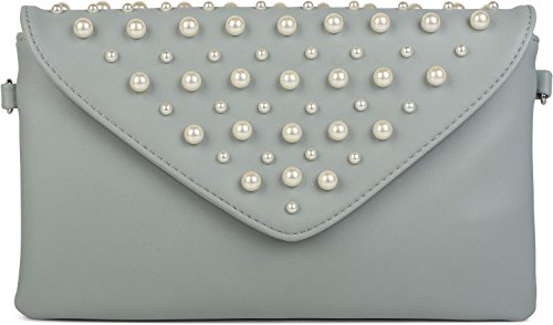 Color in large pearls and with bag styleBREAKER design 02012217 evening small clutch ladies Black Light envelope Blue envelope qczwzE6RA