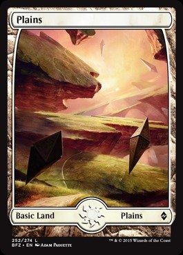Magic: the Gathering - Plains (252) (252/274) - Battle for Zendikar - Foil (Case Mirage Plain)