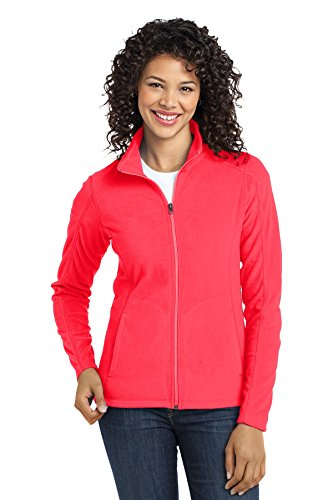 Port Authority Ladies Microfleece Jacket. L223 Hot Coral S