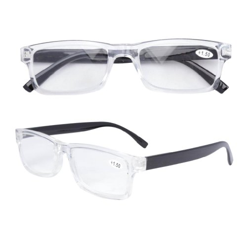 Eyekepper Quality Clear Frame Plastic Reading Glasses +2.25