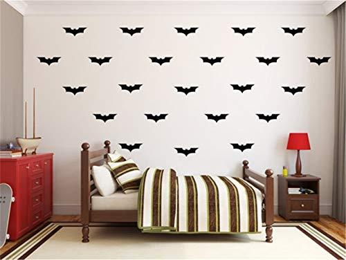 Ysisa Batman Wall Decal Sticker 24Pcs/Set Batman DIY Wall Decal Wall Art Batman Decorations Vinyl Decal, Childrens Kids Bedroom -