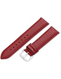 Hadley-Roma Men's MSM725RQ 200 20mm Red Java Lizard Grained Leather Watch Strap